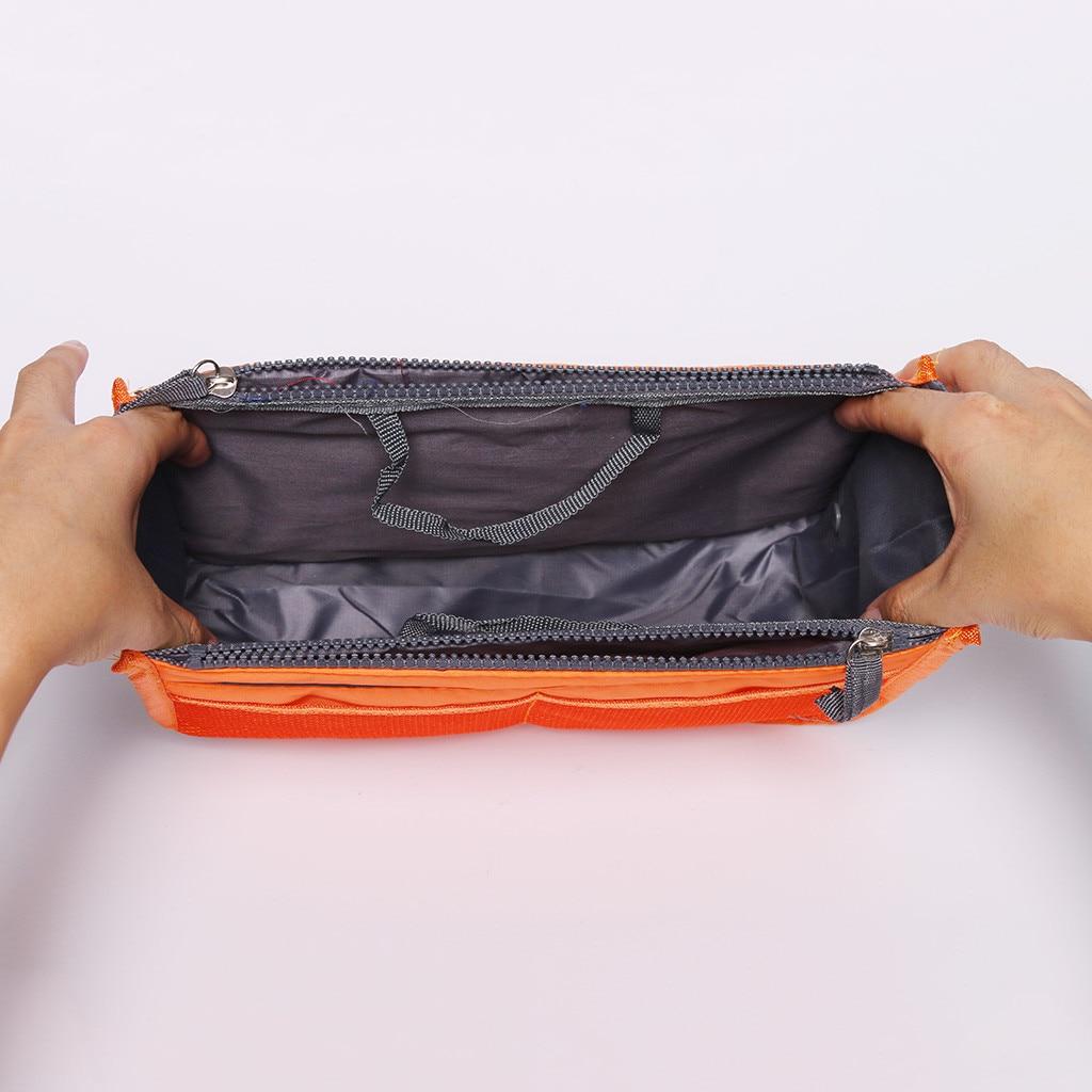 Image 5 - Portable Multifunction Dual Zipper Storage Bags Cosmetic Organizer Holder Organizer Storage Bag Organizer For Travel 2019-in Storage Bags from Home & Garden