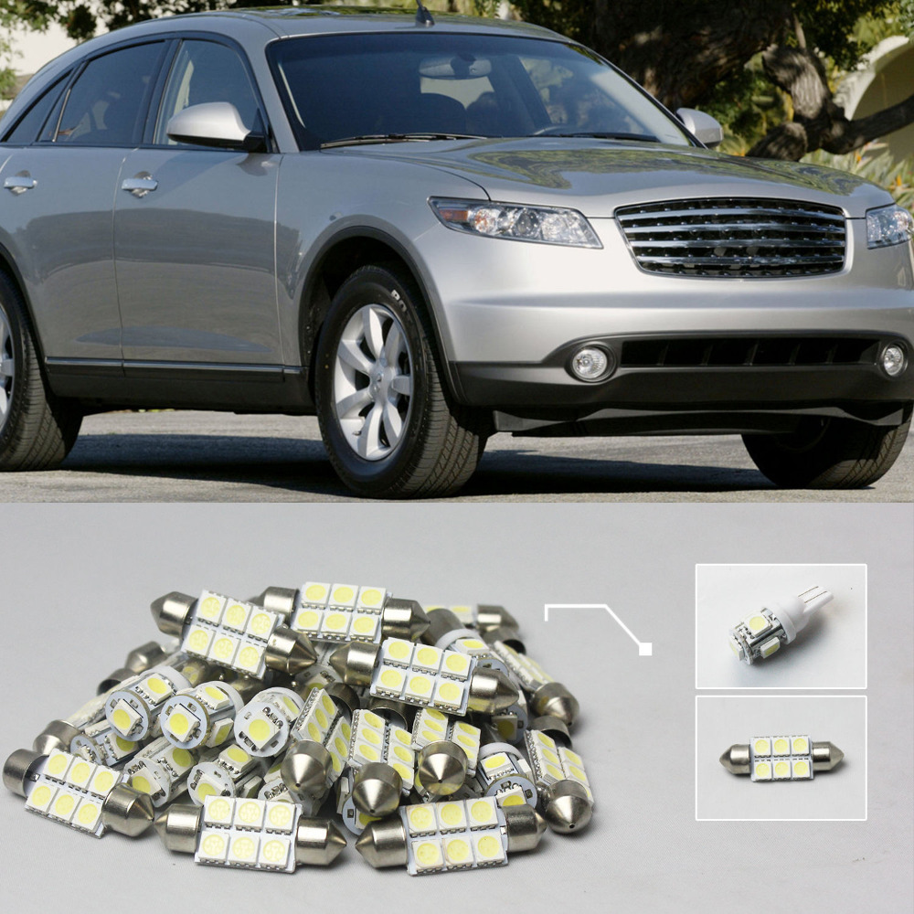 Compare prices on infiniti fx35 white online shoppingbuy low 13 14x white led lights interior package kit for infiniti fx35 vanachro Gallery