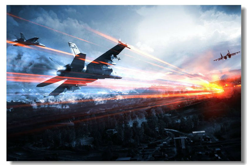 Free Ship Nice Gift Battlefield 3 Game Fighter Custom Canvas