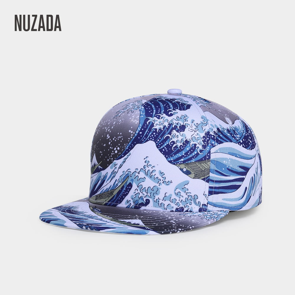 NUZADA Ukiyo-E Style Cotton Polyester   Caps   3D Printing   Baseball     Cap   For Men Women Couple Hats Double Layer Bone Snapback