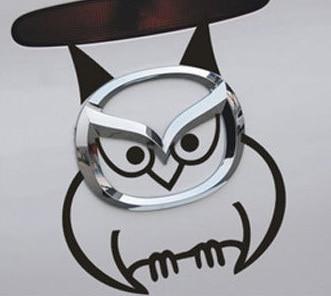 эмблема mazda сова