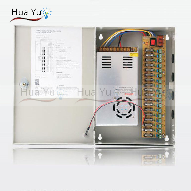 18CH 12V 30A CCTV power supply box / 12V 30A 360W monitor power supply / switch power supply 360w 12v 30a switching power supply industrial power supply safety equipment power supply