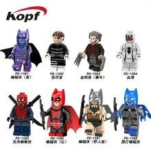 PG8146 Super Heróis Blocos de Construção Black Lantern Batman Deadpool Punisher Spiderm Wolverine Tijolos Ação Modelo Brinquedos Para Crianças