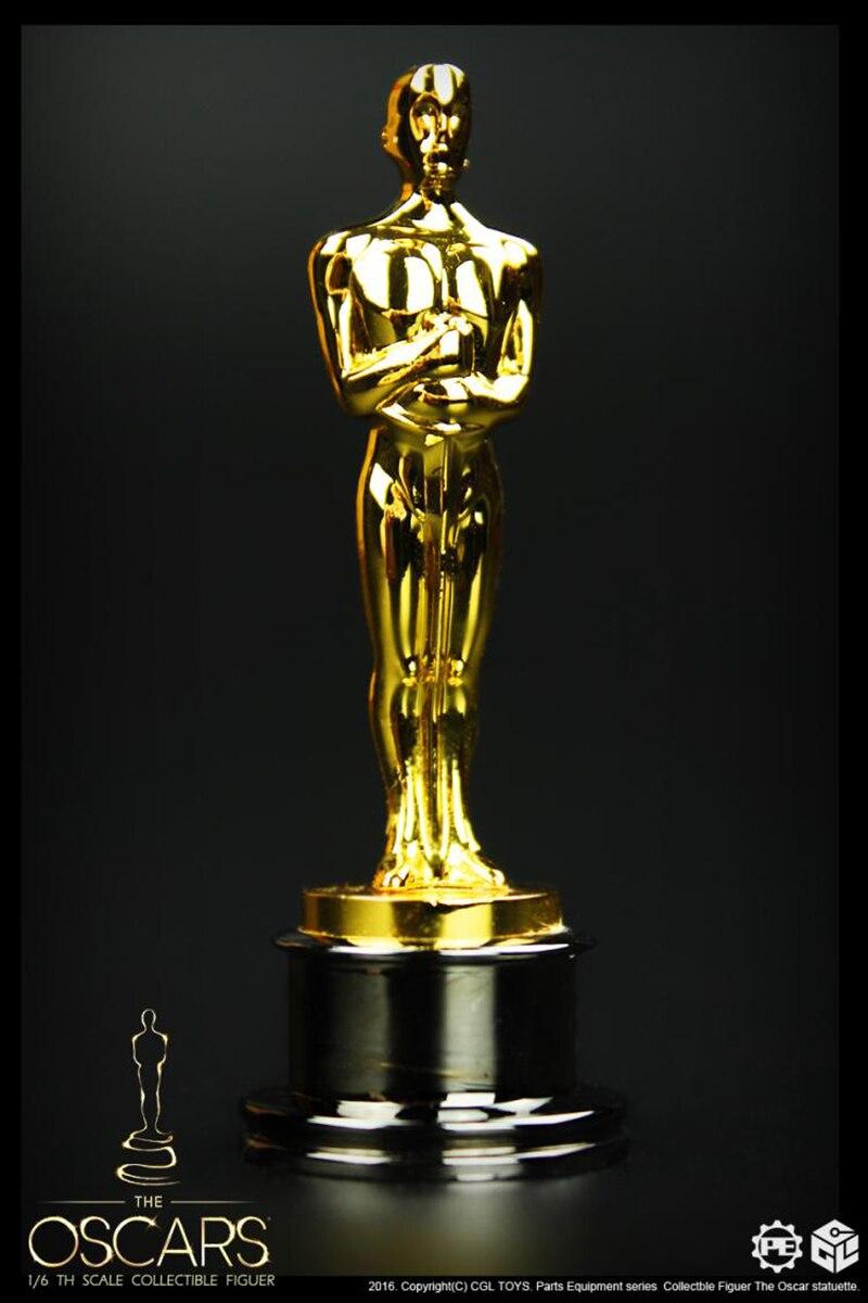 CGLTOYS PE02 1//6 Oscar Statuette Oscar Alloy Small Golden Man Figure Collection