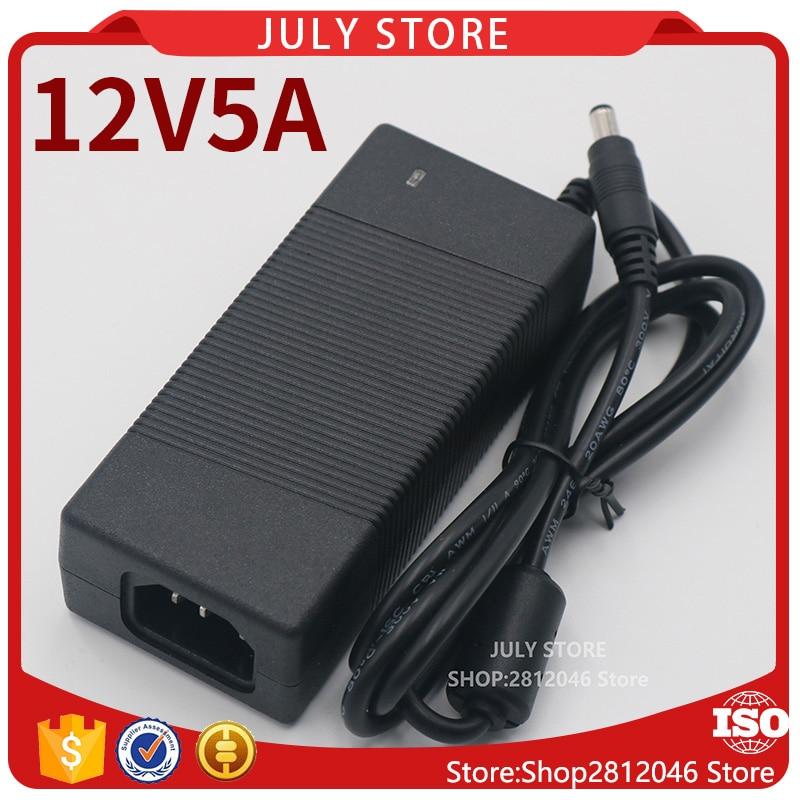 NEW 1PCS 12V5A High quality AC 100V-240V Converter Switching power adapter DC 12V 5A Supply DC 5.5mm x 2.1-2.5mm 12v5a new ac 100v 240v converter power adapter dc 12v 5a power supply eu us uk plug dc free shipping