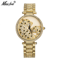 Miss Fox Leopard Female Gold Watches Waterproof Carter Couple Watches For Lover's Luxury Brand Chinese Cloud Women Quartz Watch