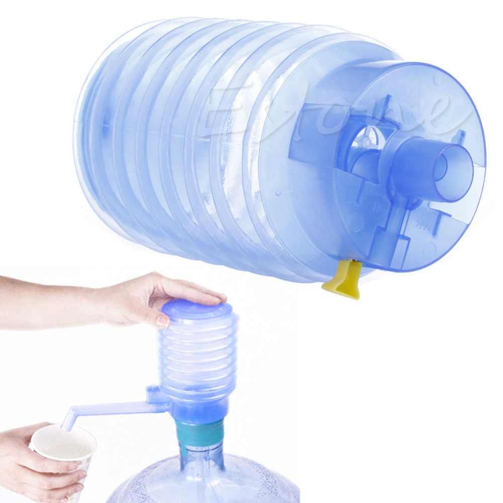 Manual Water Bottle Jug Hand Press Pump For Camping Drinking Spigot