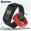 Keyou F1 Bracelet Smart Bracelet Heart Rate Monitor Waterproof Watch Smart Band Blood Pressure Pedometer Smart