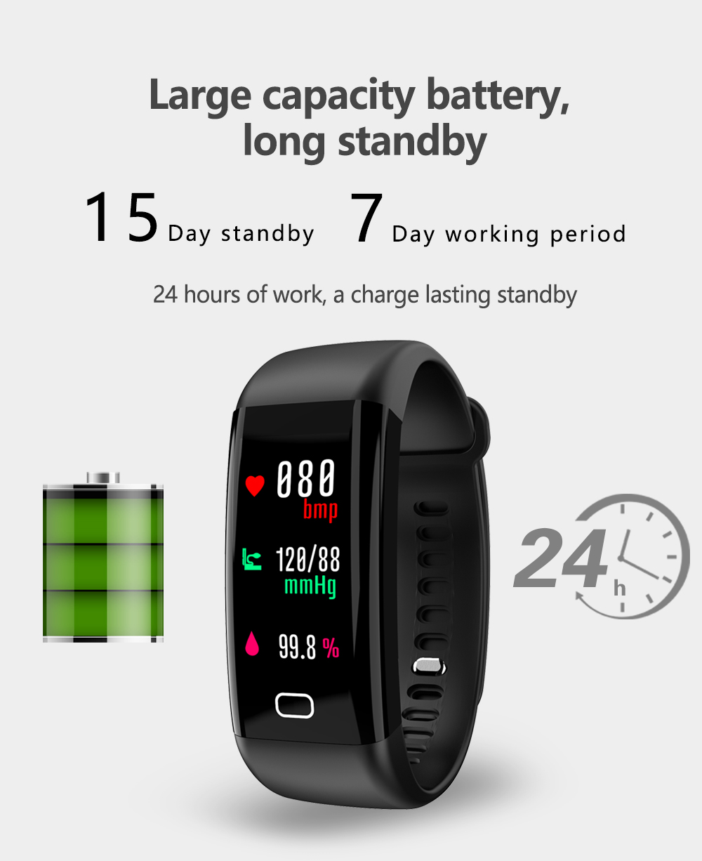 US $21 84 48% OFF|F07 Smart bracelet heart rate monitor Blood Pressure  Oxygen Fitness Tracker pulsera smartband sport watch PK xiaomi mi band 2  3-in