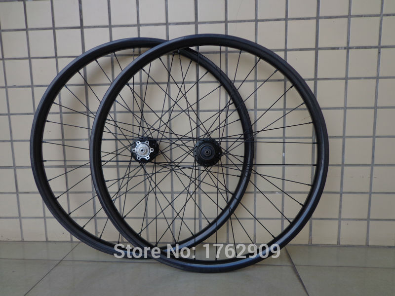Newest 29 inch Mountain bike clincher rim 3K full carbon fibre disc brake carbon bicycle wheelset 29er MTB parts Free shipping factory direct mountain bike clincher wheelset 29 inch 27 5er carbon mtb wheels 29er 650b carbon mtb wheels tubeless rims
