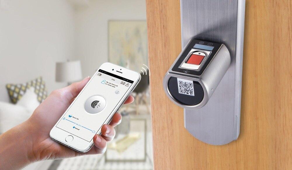 L6SRB дверной замок отпечатков пальцев, водонепроницаемый электронный дверной замок Интеллектуальный биометрический дверной замок умный за... - 4