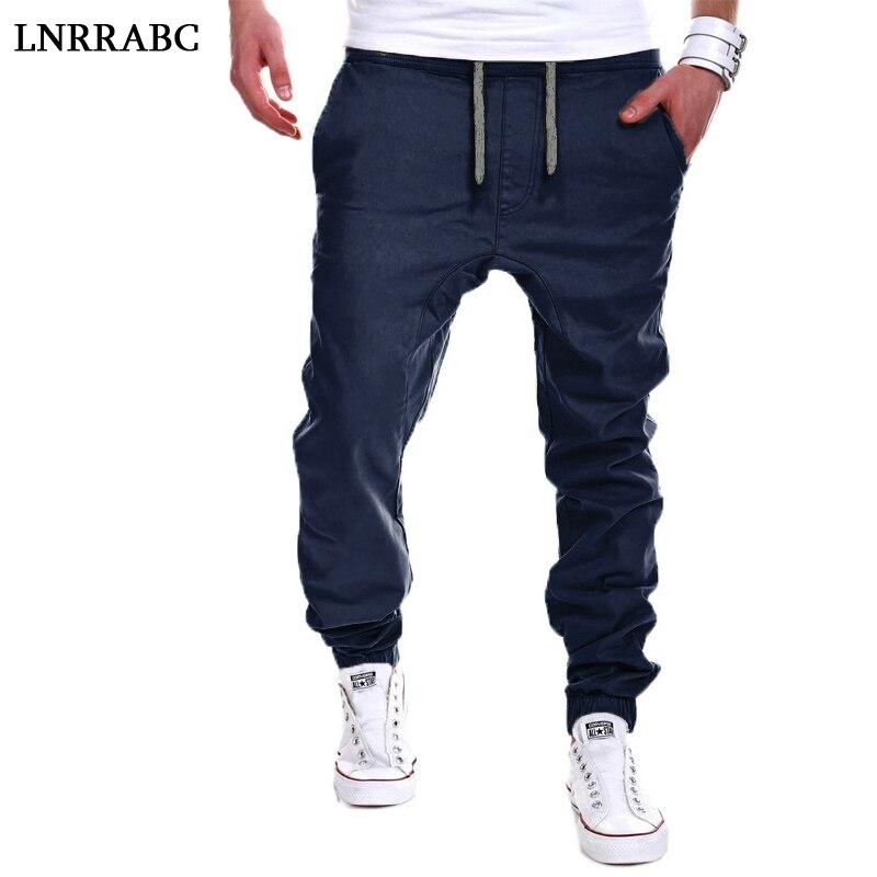Fashion 1PC Casual Spring/Autumn Men Collapse Cross-Pants Tether Asian Size M-5XL Mid Waist Hip-hop Street Drawstring Male Pants