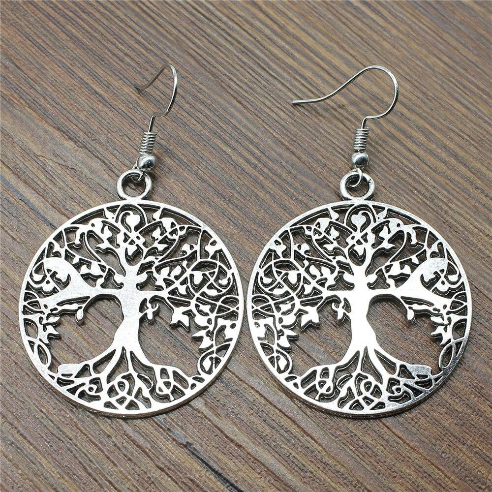 Dangle Earrings New Earring 40x35mm Tree Of Life Earrings Women Fashion Jewelry Gift For Women