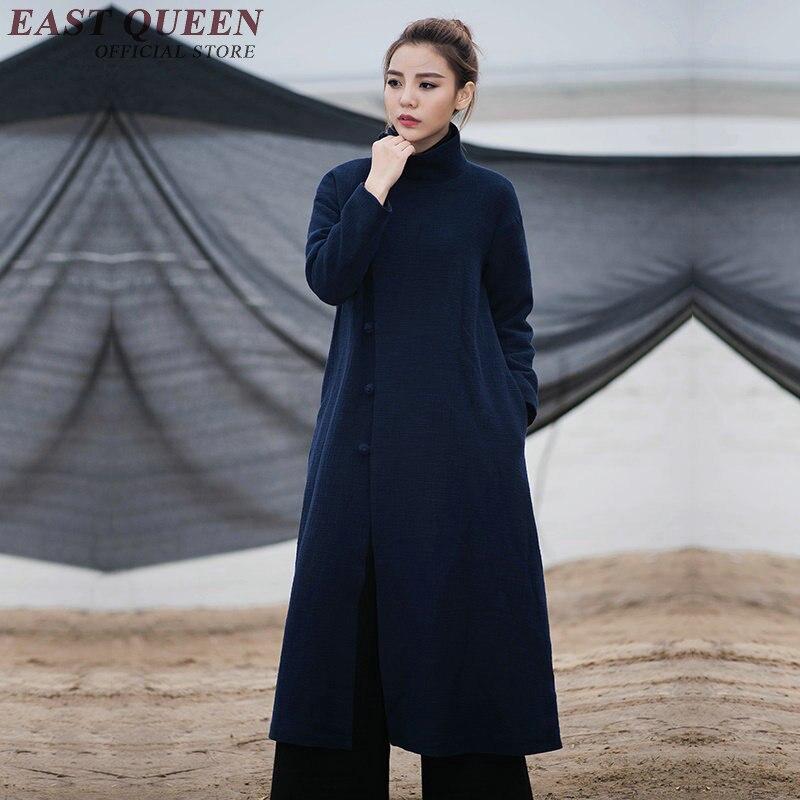 Elegant Wool Coat Female Winter Coat Women 2018 New Arrival Handmade Chinese Button Women Wool Jacket S M L AA3023 YQ
