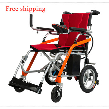 Free shiping electric portable folding travel mobility wheelchair handicap with lithium battery