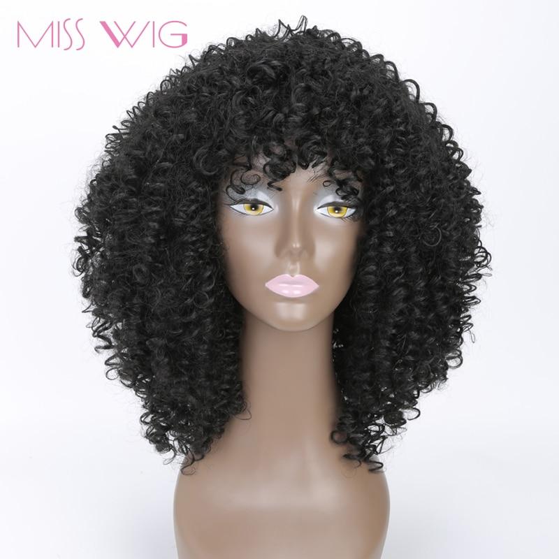 MISS WIG μακρύς Kinky Curly περούκες Afro περούκα σύντομες περούκες για μαύρες γυναίκες υψηλής θερμοκρασίας ινών συνθετικά μαλλιά Blcak κόκκινο ξανθό χρώμα