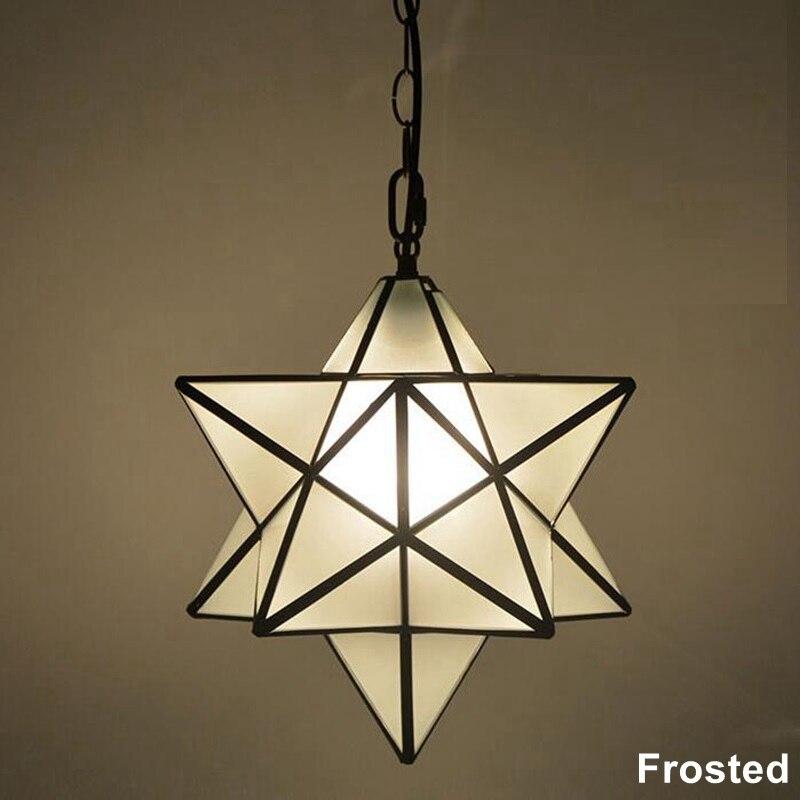 Loft Vintage Pendant Lamp Light Shooting Star Tiffany Glass Lighting Ceiling for Home Aisle Corridor Porch