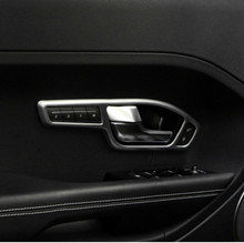 цена на Car Inner Door Handle Cover Trim ABS Chrome for Range Rover Evoque 2012 2013 2014 2015 Car Accessories For Left Drive Seat