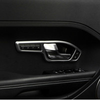 Car Inner Door Handle Cover Trim ABS Chrome for Range Rover Evoque 2012 2013 2014 2015 Car Accessories For Left Drive Seat