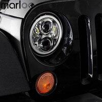 Marloo Daymaker 120W 7inch Full Halo Headlights DRL Angel Eyes W Amber Turn Signal For 97