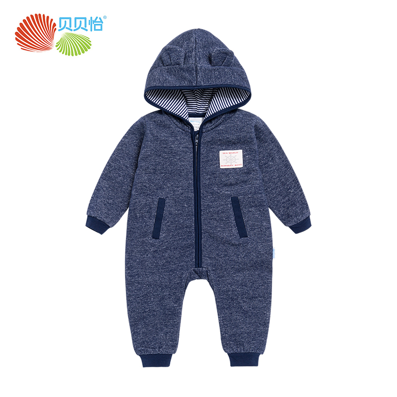 Newborn baby clothes winter rompers baby boy long sleeved coveralls thick warm baby jumpsuit cotton kids clothes 171L084 warm thicken baby rompers long sleeve organic cotton autumn