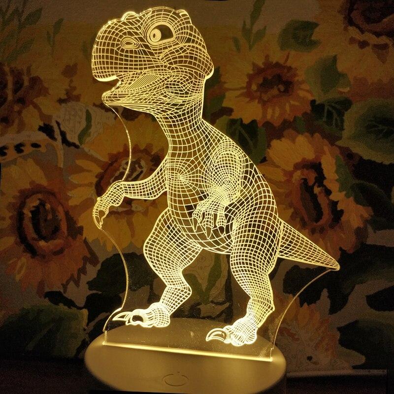 Originality LED 3D night lights Creative Ambient Light Desk lamp Home Lighting Bulbing Color change Luminaria