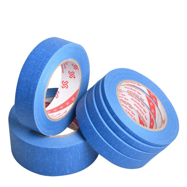Blue Masking Tape 50 Meter For Car Painting Wall Nail Decoration Spray Paint Can Written