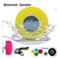 Marca Novo Portátil Mini Speaker Bluetooth com Microfone para Chamadas Mãos livres Sem Fio À Prova D' Água Do Chuveiro Falante com Sucção