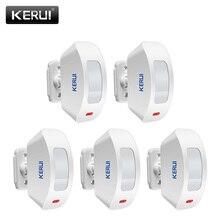 KERUI P817 אלחוטי חלון וילון PIR גלאי תנועת חיישן עבור מערכת אזעקת 433Mhz עבור K52 W18 G18 W20 מעורר מערכת