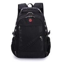 VENIWAY Quality Waterproof Nylon Swiss Cross Gear Backpack Men 15 Inch Laptop Bag Sac A Dos