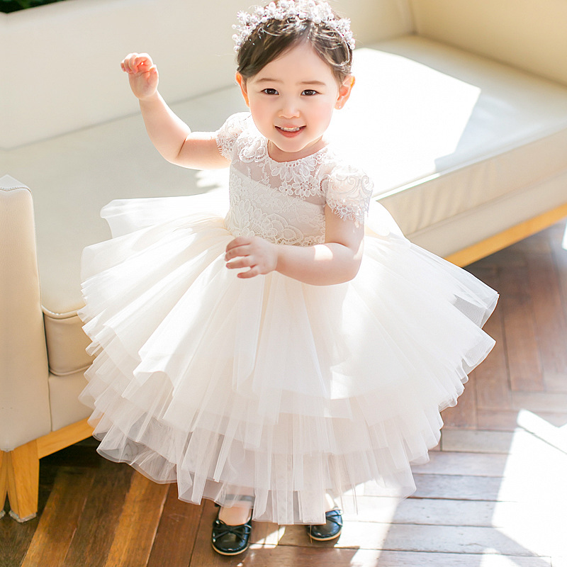 Cute Princess Dress Little Girls Ball Gown Kids Pageant Dress for Birthday Costume Lace Embroidery Flower Girl Dresses B440Cute Princess Dress Little Girls Ball Gown Kids Pageant Dress for Birthday Costume Lace Embroidery Flower Girl Dresses B440