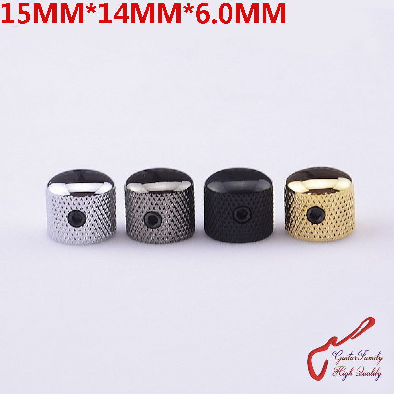 1 Piece GuitarFamily  Mini Dome Metal Knob For Electric Guitar  Bass  15MM*14MM*6.0MM  ( #1097 ) MADE IN KOREA
