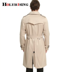 Image 3 - S 6XL Trench Coat Men British Style Spring Autumn Pea Coats Double Breasted Slim Solid Mens Wind Coat Windbreaker 4 color