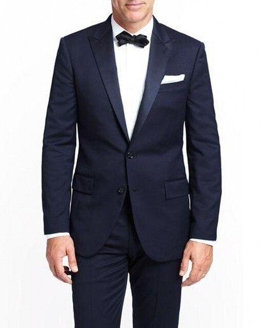 (Куртки + Брюки) Новый Мужские Костюмы Slim Fit Две Кнопки Смокинг Модного бренда Жениха Деловое Платье Свадьбу костюмы Блейзер
