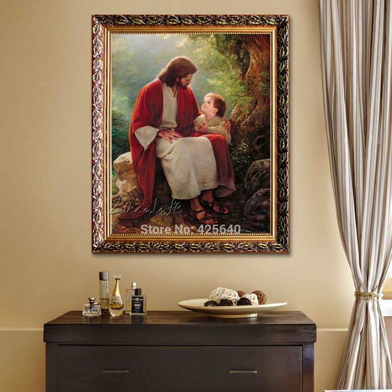 Jesus Christ Print Painting On Canvas Home Decor Catholic