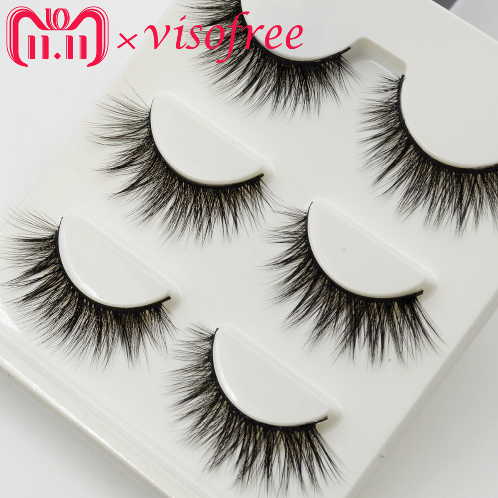 3pairs Lashes Visofree False Eyelashes Natural