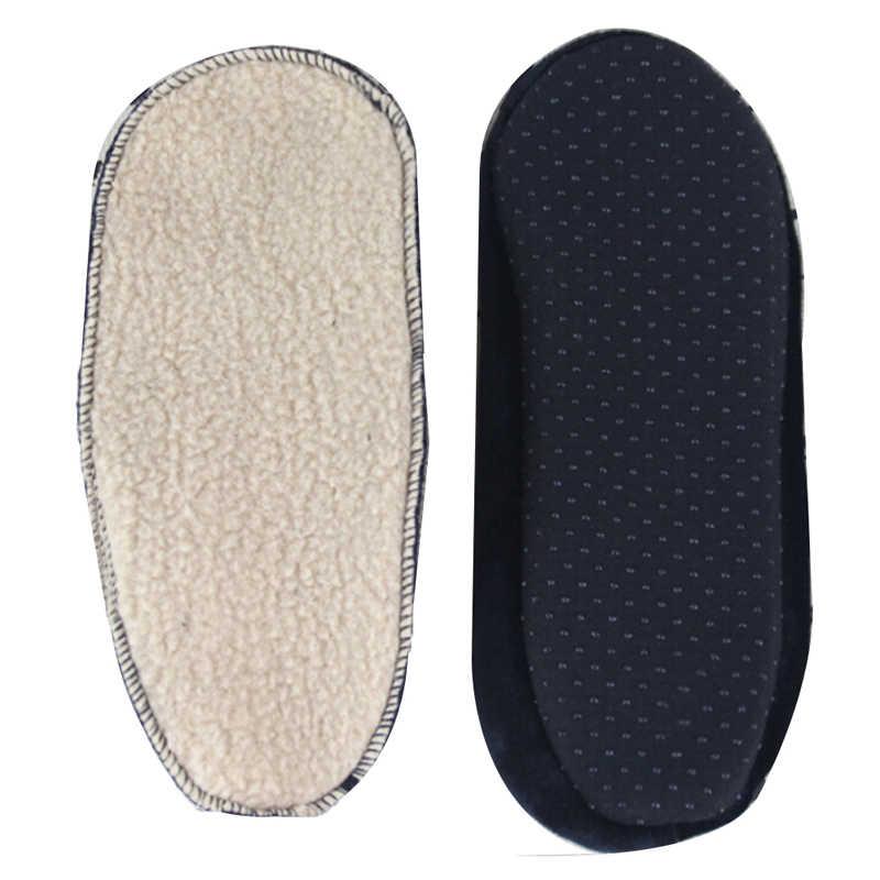 1 par de calcetines de lana suave para hombres y mujeres espesan los calcetines de invierno calientes de arranque Unisex elástico antideslizante calcetines de piso de interior 4 colores