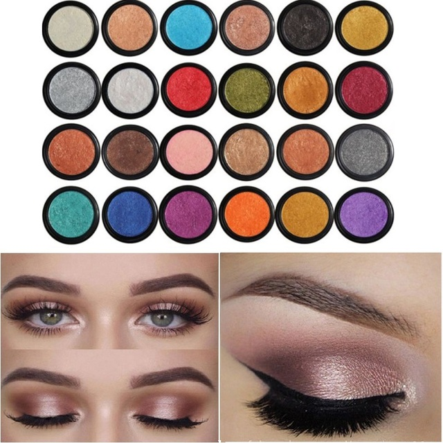 PHOERA  Eyeshadow Eye Glitter Shimmer 24 Clors Natural Matte Palette Pigment Eyes Make Up Cosmetic festival face jewels TSLM1