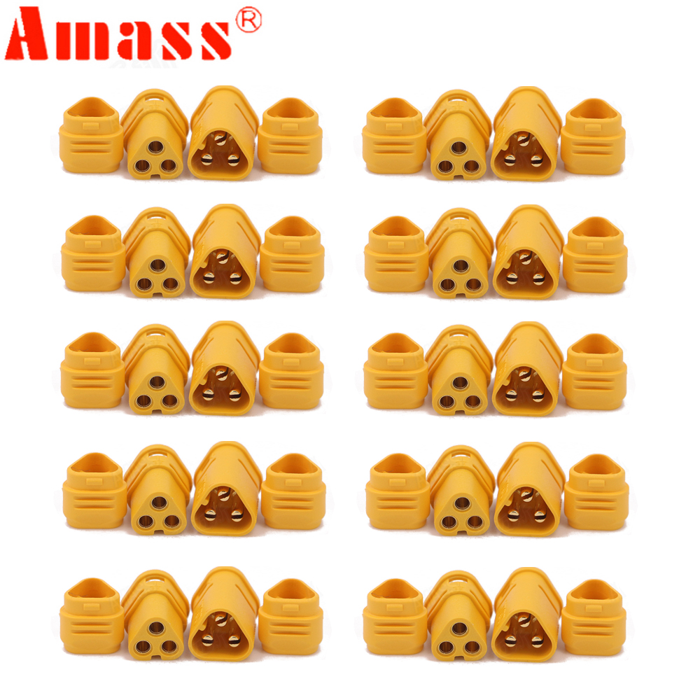 10pair AMASS MT30 2mm 3-pin Connector / Motor Connector / Plug Set For  RC Lipo Battery RC Model Quadcopter Multicopter