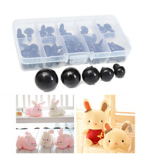 6-12mm Black Safety Eyes 100pcs/box For Teddy Bear Doll Animal Crafts With Box Doll Cartoon Animal Puppet Crafts Plastic 12mm doll stuffed doll eyeballs half round acrylic eyes for diy doll bear crafts mix color plastic doll eyeball 100pcs box