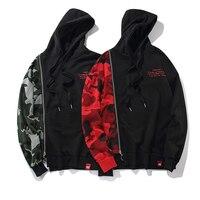Europäischen und Amerikanischen straße mit kapuze absicherung camouflage flut männlichen casual nähte lose hip-hop youth hoodie jacke Sweatshirt