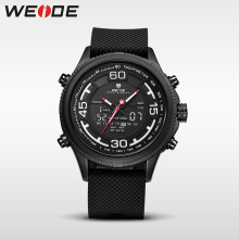 WEIDE 6306 luxury genuine sport LCD watch Silicone quartz watches water resistant analog digital clock business men