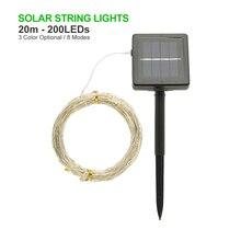ANBLUB Outdoor 10M 20M Solar Lamp LED String Fairy Lights Flash 100/200leds Waterproof For Christmas Garden Wedding Decoration