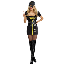 Adult Sexy Police Costume Women Halloween Cop Cosplay Fancy Party Dress Up Woman Uniform Outfit