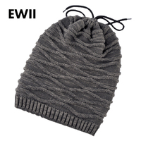 Fashion Winter Beanie Men Knit Hat Skullies Bonnet Mens Beanies Hats Neck Warmer Knitted Cap Women