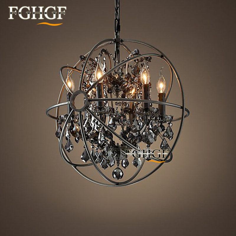 Retro Crystal Chandelier Light Lustre Lamparas Lamp for Bedroom Living Room luminaria Indoor Light Chandeliers Fixtures (3)