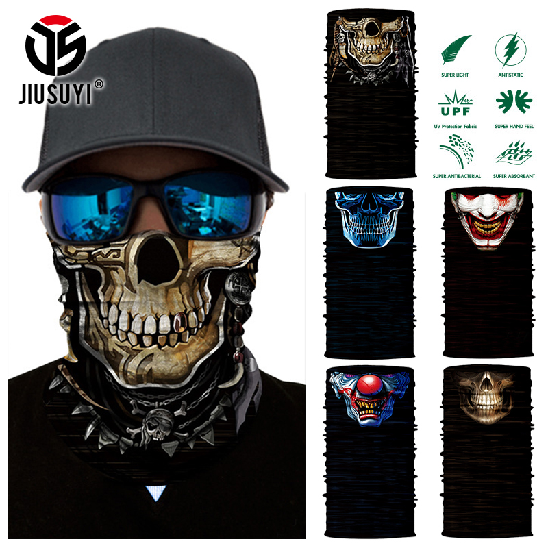 JIUSUYI Magic Scarf Skull Neck Face Mask Headband Bandana