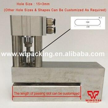 15mm * 3mm * R1.5 pneumatyczne powietrza owalny otwór dziurkacz papieru, PE, PP sztancowania maszyna narzędzie 150 ~ 280 razy/min
