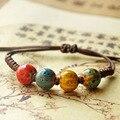 Ceramic Beads Charm Bracelet Heart Cuff Bangles Love Wristband Rope Link Chain Adjustable Women Fashion Jewelry Accessories