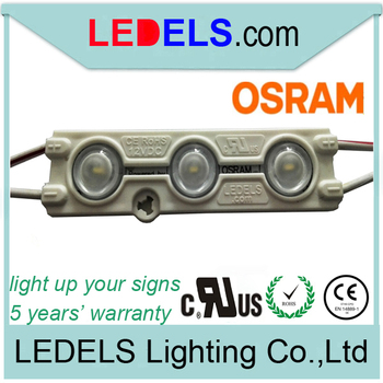 5 years warranty 12v 1.2w 120lm OSRAM 3 led module for LIGHT BOX sign or Channel letter signage